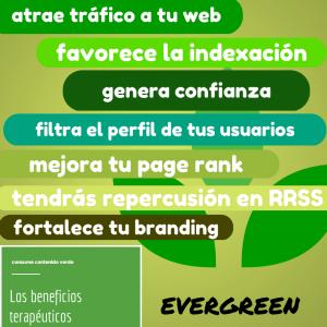 Beneficios de utilizar contenidos evergreen para posicionar tu sitio web. Marketing de contenidos